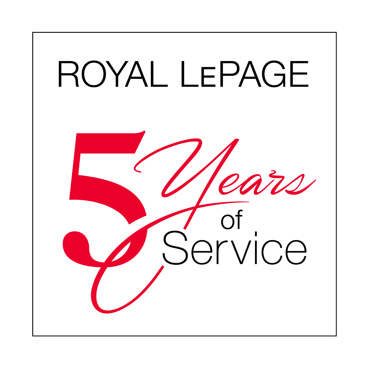 Years of Service - 5 Years